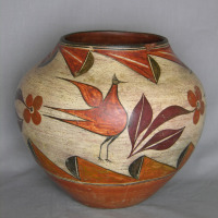 4 Color Bird jar, c. 1930